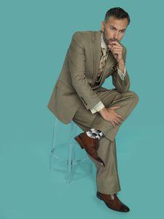 Steven Land Suits:  Walter SL1032-Golden Brown $399 #StevenLand #Style