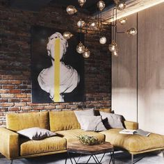 53 Gorgeous Exposed Brick Wall Ideas For Interior Home Design - If your guest room includes a brick wall as one of its architectural features, there are ways of beautifully accessorizing and complementing the overa. Brick Interior, Interior Walls, Modern House Design, Modern Interior Design, Deco Cool, Esstisch Design, Brick Design, Wall Design, Design Art