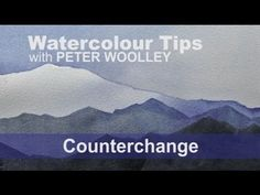 Watercolour Tip from PETER WOOLLEY: Counterchange - YouTube