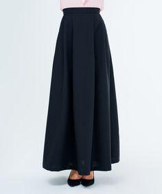 Look at this #zulilyfind! Black A-Line Maxi Skirt - Plus Too #zulilyfinds