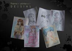 Dessins personnages manga et autres
