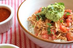 Mexican Chicken Burrito Bowl...can't get enough of this recipe!! Super easy and delicious!!