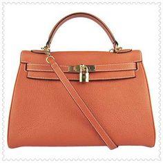 Orange Golden Hermes Kelly 32cm Bag $295.00