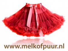 LITTLE RED RIDING HOOD pettiskirt red. Petticoat Rood