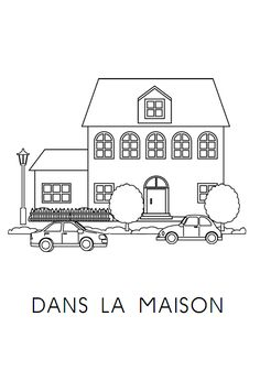 Fichier de lecture thématique (la maison) pour moyenne et grande section de maternelle. Core French, French Class, French Worksheets, Counting Games, Grande Section, Kindergarten Lessons, How To Speak French, Teaching French, Montreal