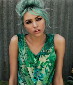 Hairspiration #green #mint #turquoise mint adventure commencing! Love this
