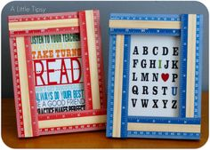 A Little Tipsy: DIY Under $5 {Ruler Frame}