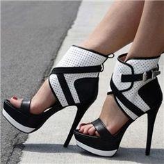 abdfa92d914  83.99 Dresswe.com SUPPLIES High Quality Contrast Colour PU Ankle Strap  Platform Sandals