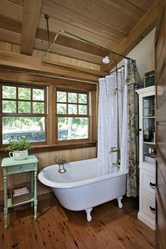 13 Genius Initiatives of How to Upgrade Rustic Cabin Bathroom Ideas Accepting The great motif in building the bathroom will be something good to do. One of a great idea of this is that the Rustic Cabin Bathroom Ideas. Small Cabin Bathroom, Rustic Cabin Bathroom, Rustic Cottage, Log Cabin Bathrooms, Rustic Bedrooms, Rustic Cabins, Cottage Ideas, Log Cabins, Small Cottages