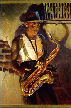 """John Carroll Doyle's """"Sax Man"""""""
