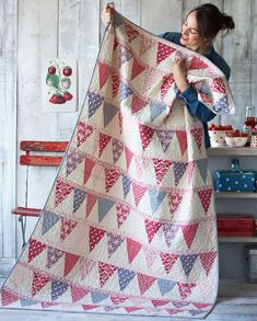 candy bloom bunting quilt