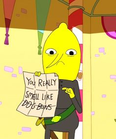 Adventure time 30 day challenge- day 5-least favourite character- Lemongrab