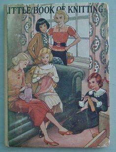 Обложка книги по вязанию, девушки вяжут