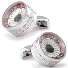 Tateossian Roulette Cufflinks, Round Cufflinks from Cufflinksman