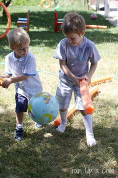 Train Up a Child: Play Dates {Pool Noodles}