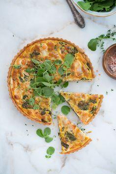 Salmon and leek quiche   Food and Cook.   Quiche de salmón y puerros   www.foodandcook.net