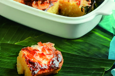 Bibingka, cassava, macapuno—three local delicacies we Filipinos love to eat. But what if we combine them all together to make a wonderful dessert? Filipino, Salmon Burgers, Eat, Ethnic Recipes, Desserts, Christmas, Food, Tailgate Desserts, Xmas