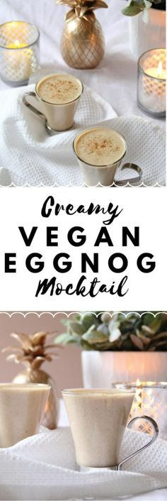 A Very Veggie Xmas: Creamy Vegan Eggnog Recipe | #Vegan #Christmas #Recipe