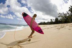 Maya Gabeira desde os tempos de adolescente no Rio de Janeiro sempre gostou do surfe e da praia