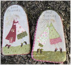 BOLSO Y MONEDEROS con diseño de Anni Downs.