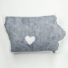 Iowa Pillow Light Gray, $48, now featured on Fab.