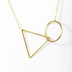 Image of Triangle Short Gold Necklace
