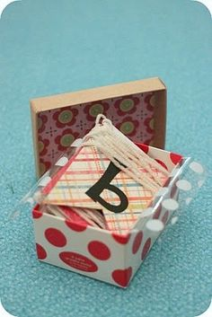 Birthday in a box  Make fr D, add confetti/toppers/straws etc. Make it an annual project with kids deciding theme.