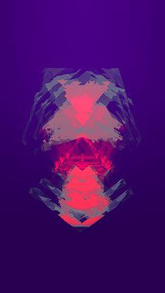 Darkflow Purple Digital Abstract Art Pattern #iPhone #6 #plus #wallpaper