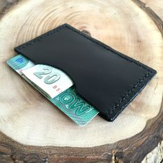 Black Genuine Leather Card Case,Leather Card Holder,Minimalist Card Case,Boho Wallet,Small Wallet,Leather Wallet,Leather Case,gift for him by GFMODE on Etsy