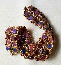by Janet Kuhn Francis Bugle Beads, Beading, Tile, Charmed, Bracelets, Jewelry, Design, Beads, Mosaics