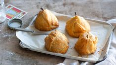 Apples and pears in pyjamas | Apples and pears are a favourite of the Dutch people and used in many desserts and snacks. Stuffed with marzipan, wrapped in puff pastry and baked until golden, a scoop of vanilla ice-cream is the perfect accompaniment.
