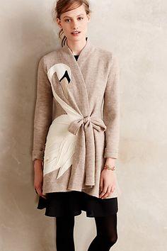 Swan Applique Sweatercoat - anthropologie.com #anthrofave