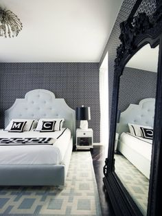 Greg Natale Interiors: Master Bedroom - i really really really want a big mirror in my room