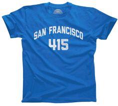 San Francisco Tshirt San Francisco And Area Codes - 415 area code