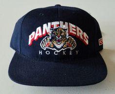 c49b6b575 Vintage Florida Panthers Deadstock CCM Snapback Hat NHL VTG