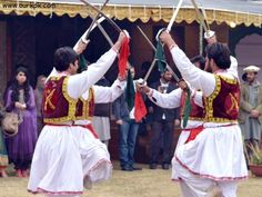 """The famous Dance """"Khattak"""" of the Pashtuns in Afghanistan."""