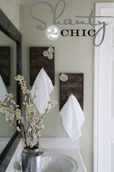 DIY Towel Hooks. Guest BathroomsBathroom IdeasWood ...