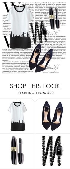 """""""black and white"""" by deima-835 ❤ liked on Polyvore featuring Christian Dior, Max Factor and Chanel"""
