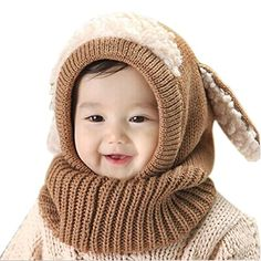 Unisex-baby Toddler Winter Beanie Warm Hat Hooded Scarf Earflap Knitted Cap  Girls Boys http da572ad8bef8