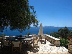 Greece, Corfu, Nissaki. Old stone villa