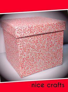 Caja reviclada con decoupage