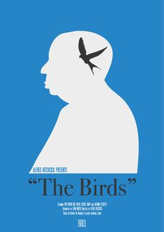 Cartel minimal peliculas Hitchcock: The Birds
