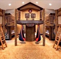 19 Amazing Dream Playrooms dream house luxury home house rooms bedroom furniture home bathroom home modern homes interior penthouse Dream Rooms, Dream Bedroom, Indoor Forts, Kids Fort Indoor, Indoor Jungle Gym, Kids Indoor Playground, Indoor Swimming, Sweet Home, Awesome Bedrooms