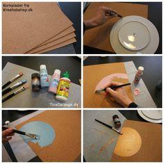 se hvordan man selv kan lave dækkeservietter af korkplader fra Kreahobshop.dk
