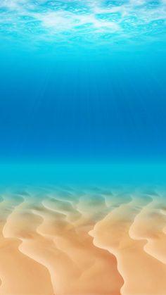 光射す海中 iPhone6 Plus壁紙