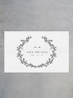 Save the Date card for a wedding. Alternative for Wedding invite! #wedding #invite