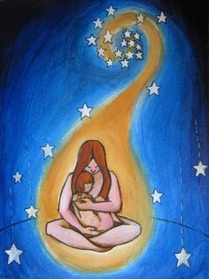 The Falling Stars - original whimsical painting by Kellie Marian Hill. $40.00, via Etsy.