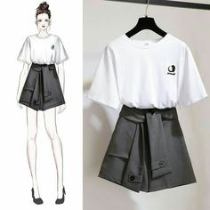 Perfect Clothing Colour Combinations For 2020 Teen Fashion Outfits, Cute Fashion, Girl Fashion, Casual Outfits, Cute Outfits, Fashion Drawing Dresses, Fashion Dresses, Korea Fashion, Asian Fashion