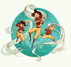 This is so beautiful! I love it so much! by http://melissamanwill.tumblr.com/post/55115322865/you-might-have-seen-the-korra-comic-con-fanart