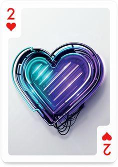 2 of Hearts by Peter Tarka - http://playingarts.com/cards/peter-tarka/